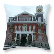 Norwich City Hall In Winter Throw Pillow