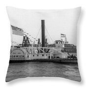 Norwich Steamboat, C1909 Throw Pillow