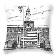 Norwich University Jackman Hall Throw Pillow