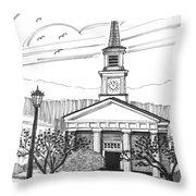 Norwich University White Chapel Throw Pillow