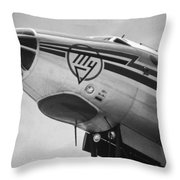 Nose Tu-114 Rossiya Throw Pillow