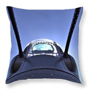 Nose Turret Of The B-24 J Throw Pillow