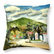 Nostalgia Arcadia Valley 1985  Throw Pillow