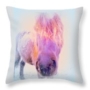 I'm The Famous Winter Nosy Spirit But I Don't Care  Throw Pillow by Hilde Widerberg
