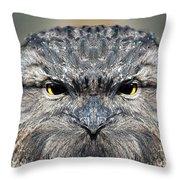 Not A Appy Bird Throw Pillow
