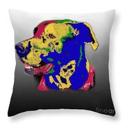 Not A Black Lab Throw Pillow