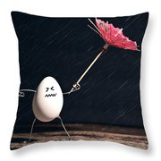Not Eggs-actly Great Weather Throw Pillow
