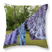 Not Fade Away - Spiral Dyes Throw Pillow