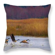 Not Following The Crowd Throw Pillow
