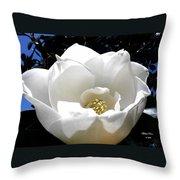 Relief - Deep Blue Throw Pillow