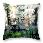 Not Just Numbers Throw Pillow