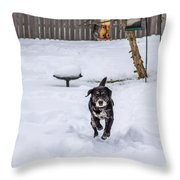 Not Lovin' This Snow Throw Pillow