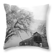 Not Much Time Left Bw Throw Pillow