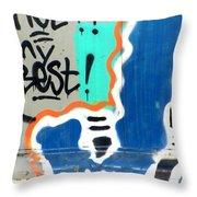 Not My Best Graffiti 1 Throw Pillow