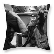 Not Noticing The Hunger  Throw Pillow