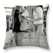 Not Right Now Throw Pillow