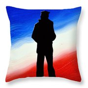 Not Self But Country Throw Pillow