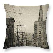 Not So Old San Francisco Throw Pillow