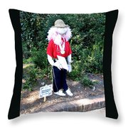 Not So Scary Junior Miss Scarecrow Throw Pillow