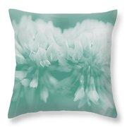 Not-so-white White Clover Throw Pillow