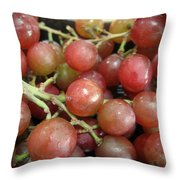 Not Sour Grapes Throw Pillow