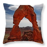 Not The Usual Delicate Arch View Throw Pillow
