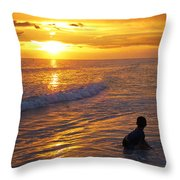 Not Yet - Sunset Art By Sharon Cummings Throw Pillow by Sharon Cummings