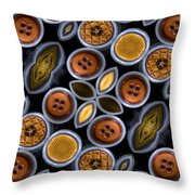 Not Your Mothers Button Box Throw Pillow