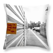Note On A Post Throw Pillow