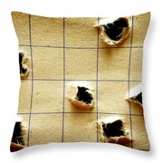 Notebook With Holes Throw Pillow