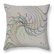 Noted Patterns Throw Pillow