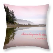 Nothing Like An Early Morning On The Oregon Coast  Throw Pillow