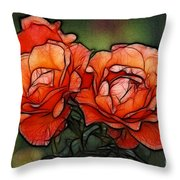 Nothing Sweeter Than A Rose Throw Pillow