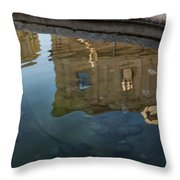 Noto's Sicilian Baroque Architecture Reflected Throw Pillow