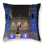 Notre-dame Basilica Of Montreal Throw Pillow