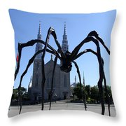 Notre-dame Cathedral Basilica I - Ottawa Throw Pillow