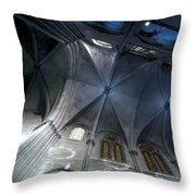 Notre Dame Ceiling In Blues Throw Pillow