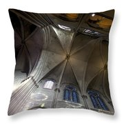 Notre Dame Ceiling South Throw Pillow