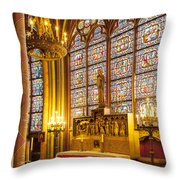 Notre Dame Chapel Throw Pillow