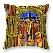 Notre Dame Color Throw Pillow