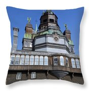 Notre-dame De Bonsecours Chapel And Marguerite Bourgeoys Museum Throw Pillow