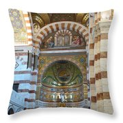 Notre Dame De La Garde Interior Throw Pillow