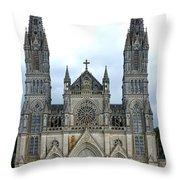 Notre Dame De Montligeon Basilica Throw Pillow by Olivier Le Queinec