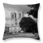 Notre Dame De Paris 2b Throw Pillow