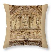 Notre Dame Detail Throw Pillow