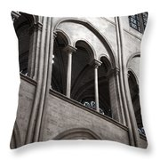 Notre Dame Gothic Arches Throw Pillow