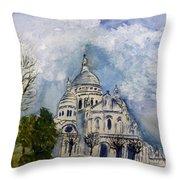 Sacre Coeur In Paris Throw Pillow