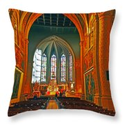 Notre Dame Of Luxembourg Throw Pillow