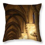Notre Dame Paris France 2 Throw Pillow
