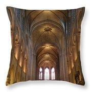 Notre Dame Paris France 3 Throw Pillow
